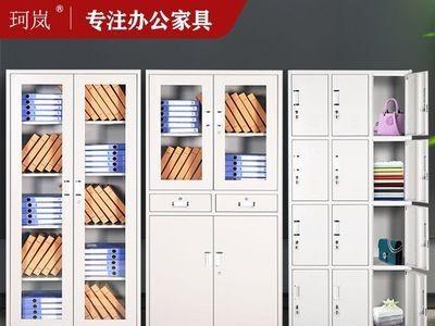 珂岚办公收纳档案资料收纳储物柜带锁矮柜子厂家直销 铁皮文件柜